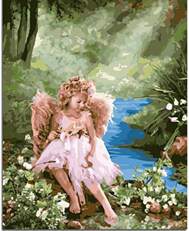 Angel Flower DIY Öl Zeichnung Von Hand Leinwand Malen Nach Zahlen Für Einzigartiges Geschenk Wohnzimmer Wandkunst Rahmenlose 40x50 cm B07P9MJ7MM   Shop Düsseldorf