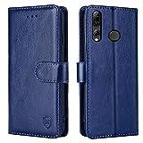 FMPCUON Hülle für Huawei P Smart Plus 2019 / Honor 20 Lite Handyhülle [Standfunktion][Kartenfach][Magnetverschluss] Tasche Flip Hülle Schutzhülle lederhülle flip case für Huawei P Smart Plus 2019 Blau