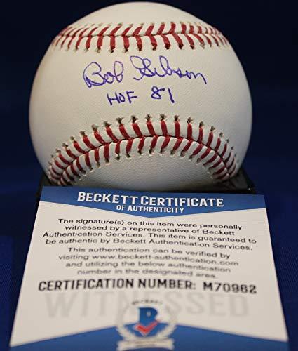 Autographed Bob Gibson Official Rawlings Major League Baseball - Beckett COA Bob Gibson Autographed Baseball