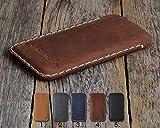 Leder Hülle für HTC Tasche Cover Case personalisiertes Etui durch