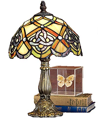 Table Lamp Stained Glass Irish Celtic Lamp 8 Inch Style Art Glass Desk Lamp Table Light St Patrick's Day Decoration, Irish Gift in-Law Gift, Irish Family Table Lamp Irish Desk Lamp Shamrock Lamp