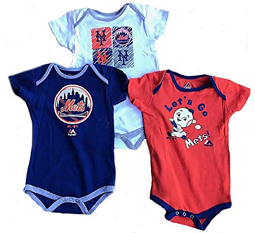 New York Mets Baby/Infant Go Team 3 Piece Creeper Set 18 Months