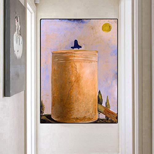 Salvador Dalis surreale Idee Landschaftsbilder, Ölgemäldeplakate der spirituellen Welt auf Leinwand und druckbildende Wohnzimmer rahmenlose dekorative Gemälde A86 60x80cm
