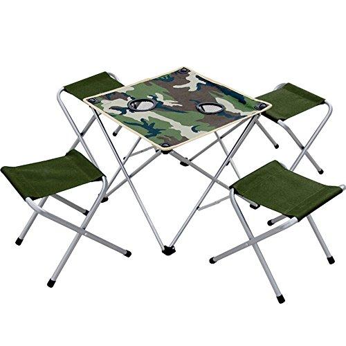 Outdoor klaptafel en kruk Draagbare Casual Beach Vissen Camping Tafel En Kruk (Maat: B)