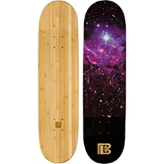 Bamboo skateboard decks are made from the highest quality bamboo resulting in longer lasting durability and performance Built with 6 ply bamboo and maple wood which improves the board sustainability to become an ideal deck for any skill level Afforda...