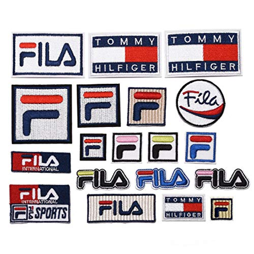 YunHui Paquete de 19 parches FILA en varios tamaños para coser o planchar bordados, con emblema decorativo