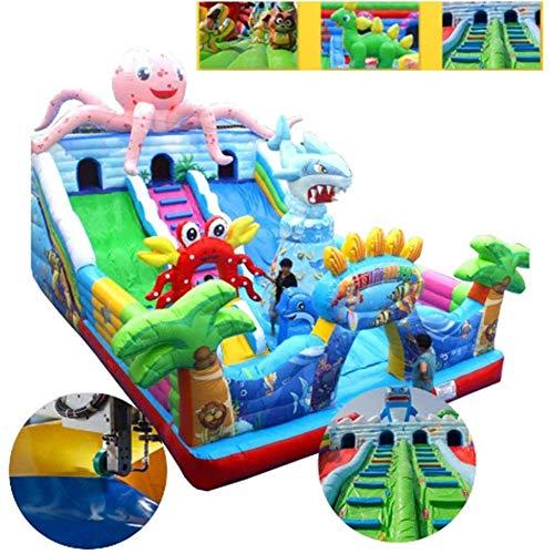 Kyman Großer Outdoor-Hüpfburg, Trampolin Slide Unterhaltungs-Ausrüstung, Kinderspielplatz, Geeignet for Spielplätze Park, 10 x 6m