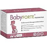 BabyFORTE® Folsäure Plus - Vegan - Vitamine Kinderwunsch & Schwangerschaft - 16 Nährstoffe - 60 Kapseln bis zu 2 Monate + Laborgeprüft