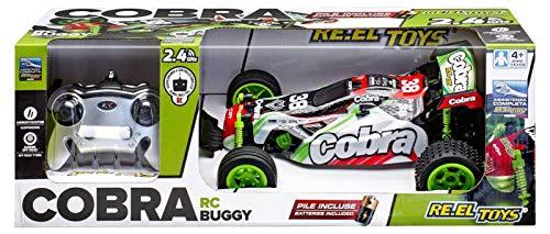 Re.El Toys- Cobra Radiocomando 2.4 GHz Ammortizzatori Completo di Pile 204, Multicolore, 8001059021536