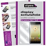dipos I 2X Schutzfolie klar kompatibel mit Lenovo Tab3 8 Zoll Folie Bildschirmschutzfolie