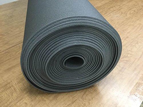 1/4' x 27' x 60' Craft Foam Roll End HiDense ClosedCell Foam Upholstery Crafting Foam Supplies Vibration Dampening Sculpting Graphite 1Pcs