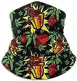 N/A Caja de regalo Weed Pattern Fleece Neck Warmer - Tubo de polaina reversible para cuello, Versatilidad Ear Warmer Diadema y máscara para hombres y mujeres