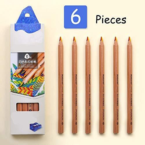 Kleurpotloden Vier Kleur Potlood Kinderen met Dikke Kleur Regenboog Kinderen Schilderen Graffiti