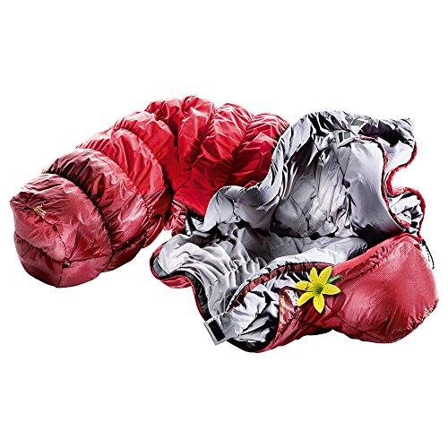 Deuter Exosphere -4° - SL寝袋、女性、赤(FIRE/Cranberry)、シングル