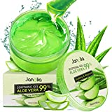 Janolia Gel di Aloe Vera Antiossidante, 300 ml Gel di Bellezza Maschera Naturale per il vi...