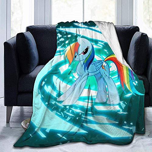 722 DSFAA Regenbogen-Pony-DLEER-Decke Superweiche und Bequeme flockige warme Plüsch-Decke passend für Bettsofa-Reisedecke # Q! 593