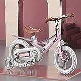 Bicicleta para niños para niños y niñas de 12/14/16 Pulgadas con Ruedas de Entrenamiento(7 Colores),Flesh,16INCH