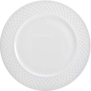 Mikasa Trellis White Dinner Plate Set of 4