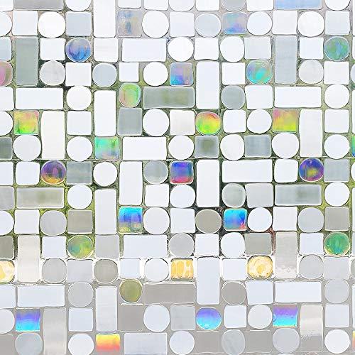 LMKJ Película de Vidrio Estampada Cuadrada y Redonda laminada estáticamente con Control térmico extraíble con láser 3D Película A183 50x200cm
