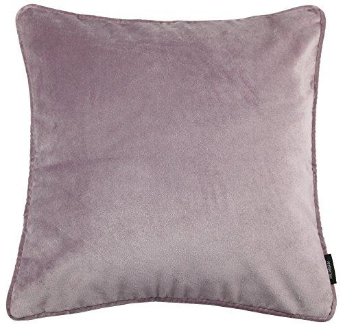 McAlister Textiles Matter Samt | Kissenbezug für Sofakissen in Flieder Lila | 50 x 50 cm | griffester Samt edel paspeliert | erhältlich in 25 Farben | Kissenhülle für Samtkissen