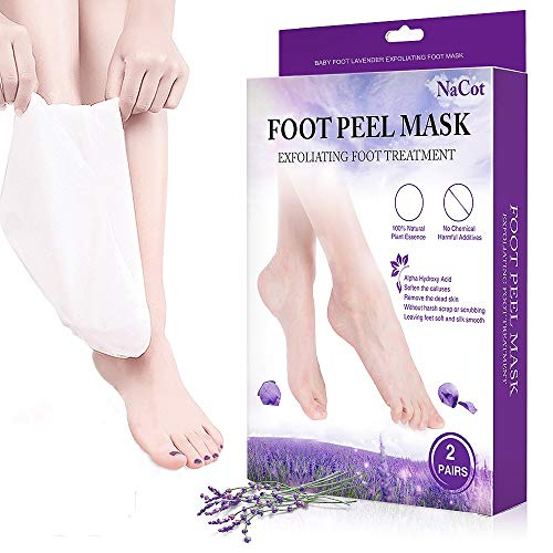 2 Paar Fußmaske Hornhaut Entfernung Socken Lavendel Fuß Peeling Maske Hornhautentfernung Beauty Exfoliating Fussmaske Peeling Socken Effektivere Fußpflege