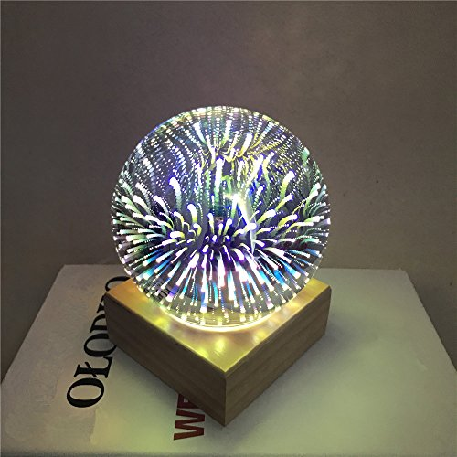 Homieco 3D Magie LED Lampe de Nuit USB Rechargeable Veilleuse de Bébé Lune Lampe Lampe Nuit de Bureau pour Maison/Salon/Enfants/bébé/Coucher/Valentines