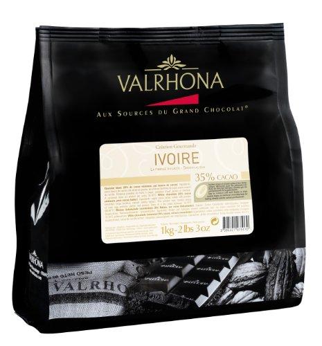 VALRHONA - Sack 1 kg Ivoire 35% - Weiße Schokolade - Sack Bohnen - 1kg