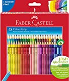 Faber-Castell 112449 - Buntstift Colour Grip 48er Stück Kartonetui