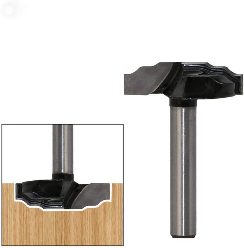 m/áquina de corte de carpinter/ía de pegamento Juego de fresas para cortador de carpinter/ía de madera 1 pieza 1//4 corte de l/ínea de panel de puerta de v/ástago Brocas de enrutador 1#