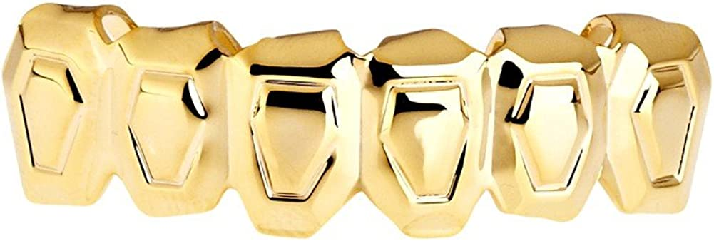 One Size Fits All Bling Grillz - Outline Bottom - Gold