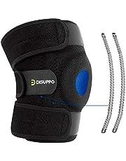 DISUPPO Soporte de rodillera, estabilizador de hueso abierto ajustable, para traumatismos deportivos, esguinces, artritis, recuperación de compresión de lesiones de ligamentos
