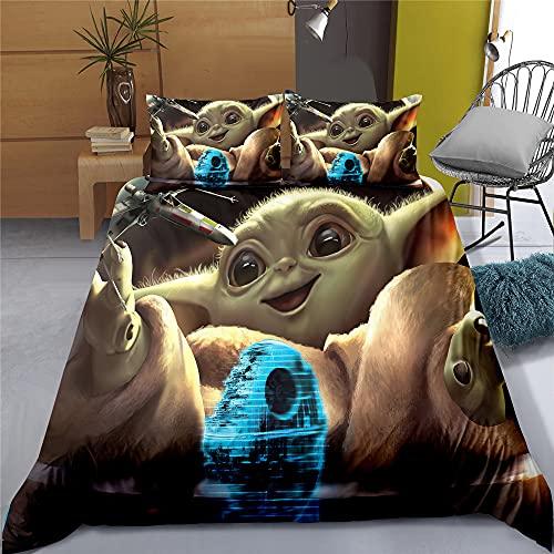 Proxiceen Star Wars Juego de ropa de cama de 3 piezas, funda nórdica y fundas de almohada, para niños y adolescentes (A3, 220 x 240 cm + 50 x 75 cm x2)