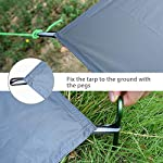 GEERTOP 1-3 Person Ultralight Waterproof Tent Tarp Footprint Ground Sheet Mat - For Camping Hiking Picnic 10