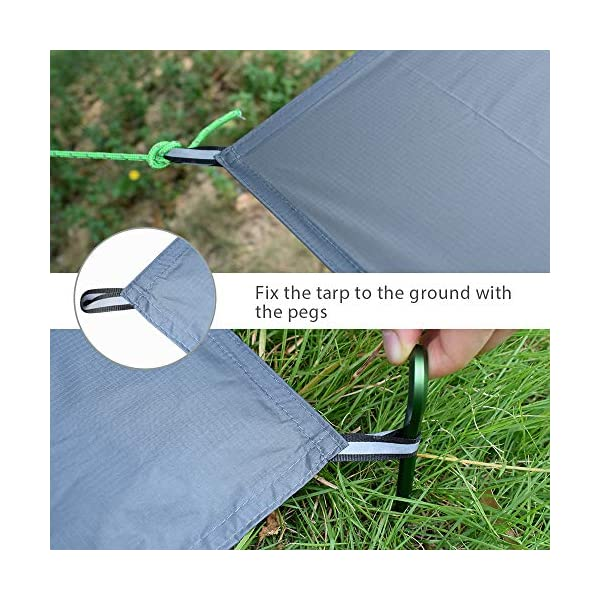 GEERTOP 1-3 Person Ultralight Waterproof Tent Tarp Footprint Ground Sheet Mat - For Camping Hiking Picnic 3