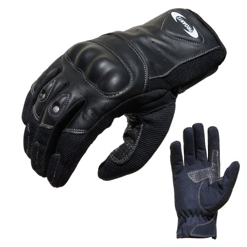 PROANTI Motorradhandschuhe Sommer Motorrad Handschuhe (Gr. XS - XXL, schwarz, kurz) - L