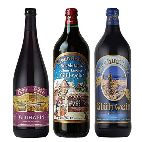 グリューワイン ホットワイン 飲み比べ 3本セット ドイツ 甘口 1000mlx3本 コラム入り