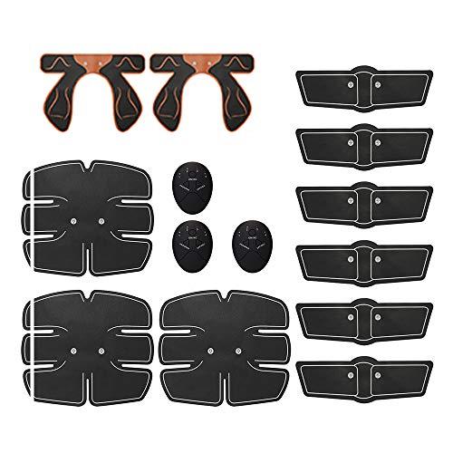 WHCL ABS-Stimulator-Muskel-Toner, EMS-Bauchmuskeltrainer mit 6 Modi & 9-Stufen-Betrieb, Muskel-Toner-Trainingsausrüstung für Männer und Frauen