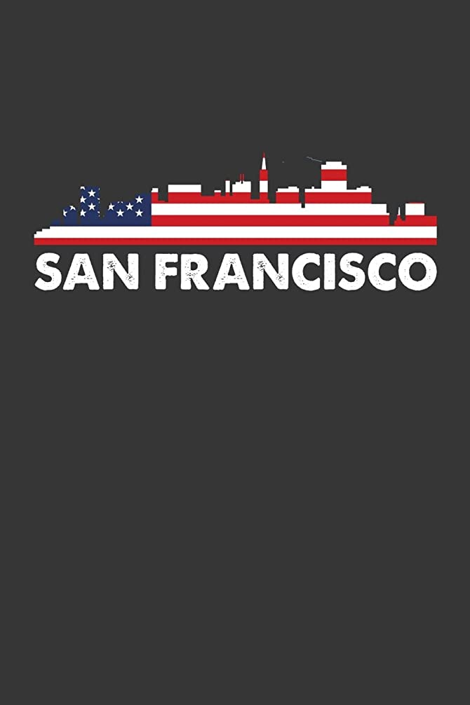 San Francisco: Daily Planner 100 page 6 x 9 Proud of your American City skylines, 4th of July, patriotic US flag cool stuff to jot down your ideas and notes