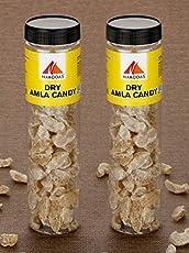 N Nakodas Dry Amla Candy (Premium Sweet Indian Gooseberry), 250gm Jar Each, Pack of 2