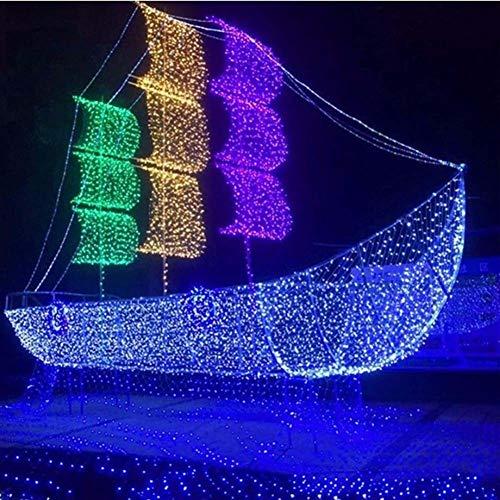 YXNN LED Net Lights Decorative Lights,200/320 LEDs 9.8ft X 6.6ft Fairy Net Light Blue 8 Modes Waterproof String Light Party Christmas Wedding Garden Home Patio Lawn Decor