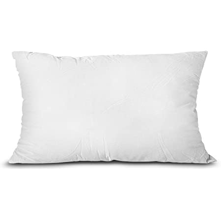 Amazon Com Comfydown 95 Feather 5 Down 12 X 28 Rectangle Decorative Pillow Insert Sham Stuffer Made In Usa Home Kitchen