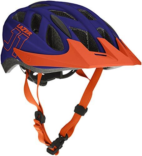 Lazer Kinder J1 Fahrradhelm, Blue/Orange, One Size