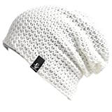 VECRY Kids Slouchy Beanie Winter Hat Cute Boys Girls Children Knitted Skull Cap (Solid-Ivory)