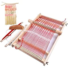 1.Shipped From US.Wooden weaving loom is based on the traditional weave ways to make weave more easily, perfect for making scarves and other interesting knitting. 2.Polish wooden material make it use comfortable and prevent kids from hurting. 3.Metal...