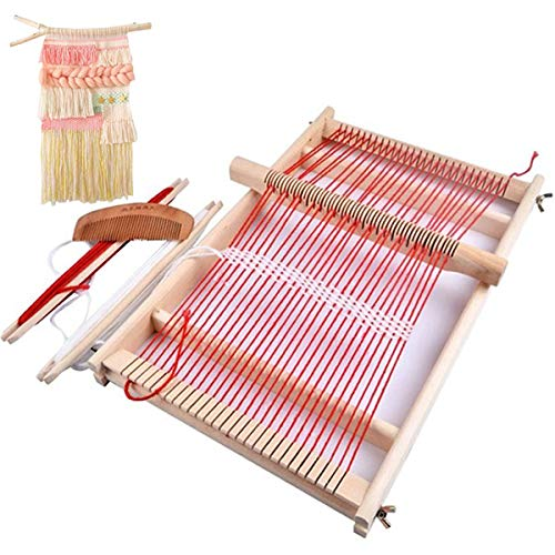 Kissbuty Wooden MultiCraft Weaving Loom Large Weaving Frame to Handcraft for Kids and Beginners 99 by 157 by 13 Inches Wooden