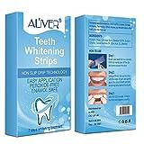 Teeth Whitening Strips, Whitener Whitening Teeth Kit, Painless, No Sensitivity, Travel-Friendly, Easy to Use Whitening Strip Pack (Aliver-7 Strips)