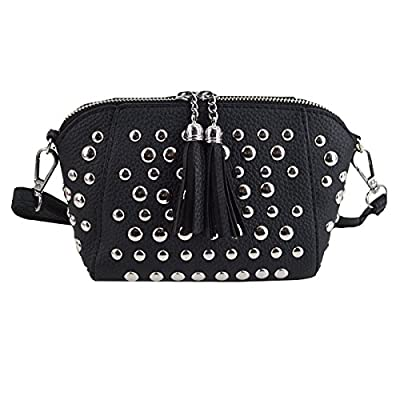 Heidi Women's Small Studs Crossbody Handbag Fashion Shell Shape Shoulder Messenger Bag