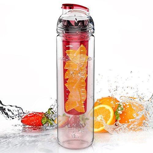 AVOIN colorlife Tritan Botella de Agua con Fruta infundida de 800ml (Muchas...
