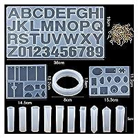シリコンモールド 11スタイルのエポキシ鋳造金型セットシリコーン紫外線鋳造ツールキット樹脂鋳造金型DIYイヤリング所見 (Color : 14)