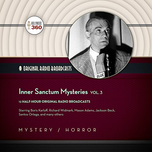 Inner Sanctum Mysteries, Vol. 3     The Classic Radio Collection              By:                                                                                                                                 Hollywood 360,                                                                                        CBS Radio - producer                               Narrated by:                                                                                                                                 Paul McGrath,                                                                                        Boris Karloff,                                                                                        full cast                      Length: 5 hrs and 37 mins     Not rated yet     Overall 0.0
